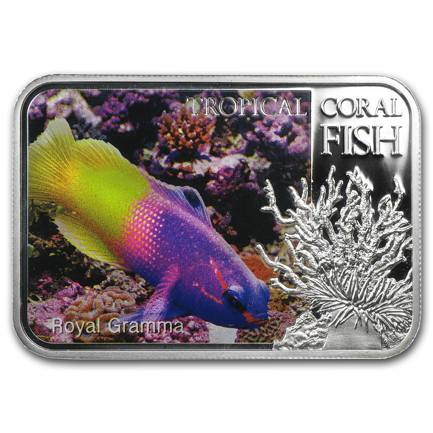 2013 1 oz Silver Niue Tropical Coral Fish - Royal Gramma